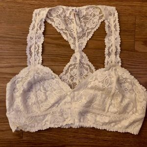 Free People Cream lace Bralette